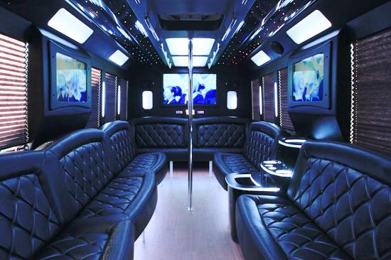 25 passenger party bus interior