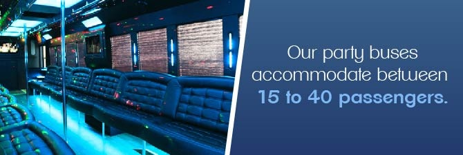 15 to 40 passenger party bus