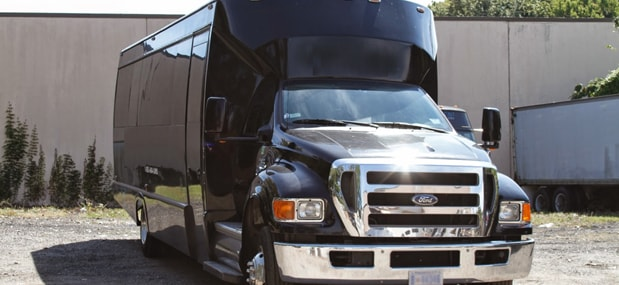 wedding limo bus rental